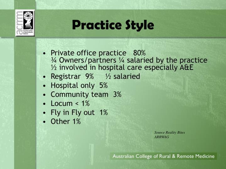 Practice Style