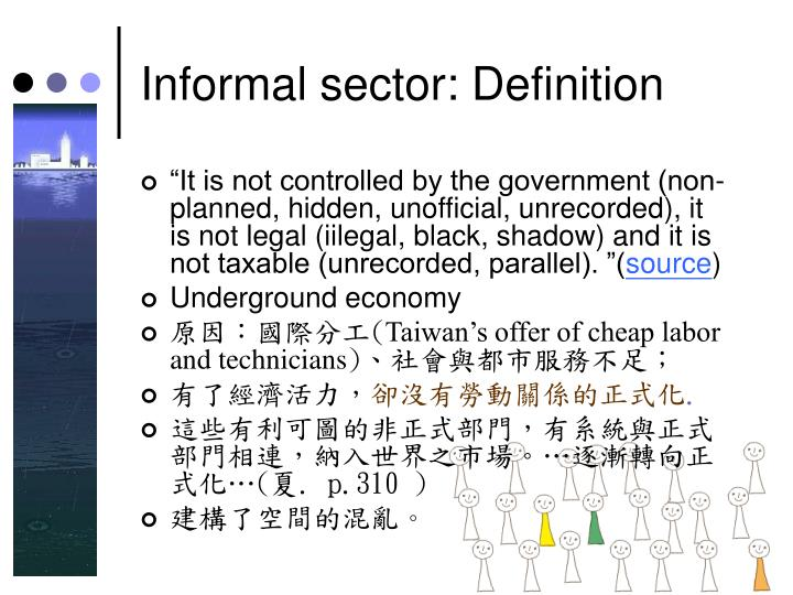 Informal sector: Definition