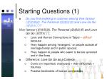 starting questions 1