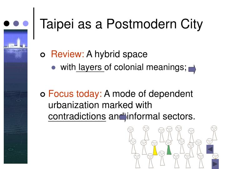Taipei as a Postmodern City