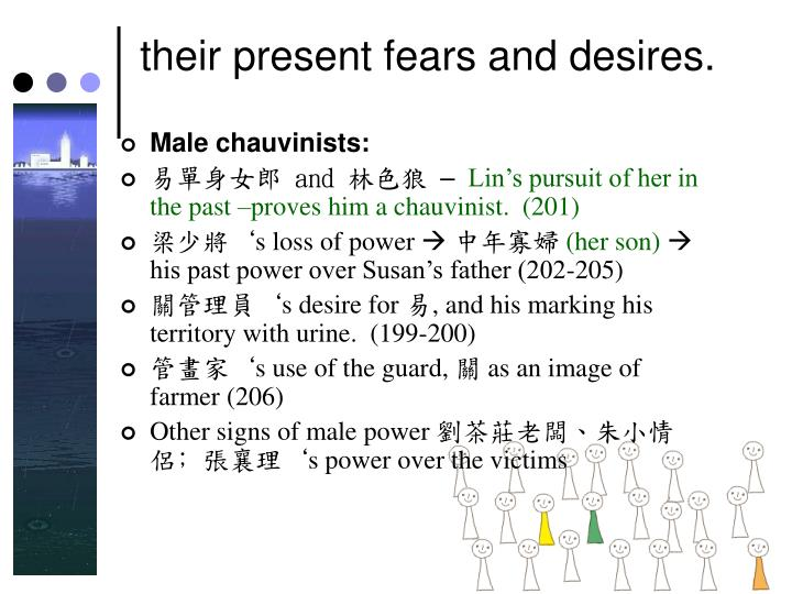 their present fears and desires.