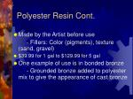 polyester resin cont