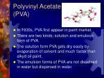 polyvinyl acetate pva