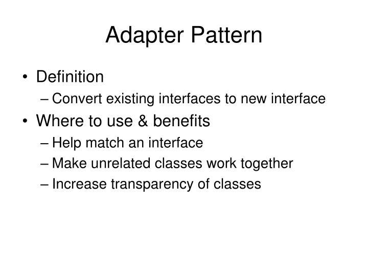 Adapter Pattern