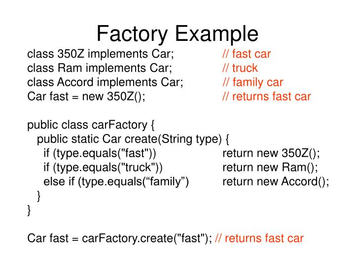 Factory Example
