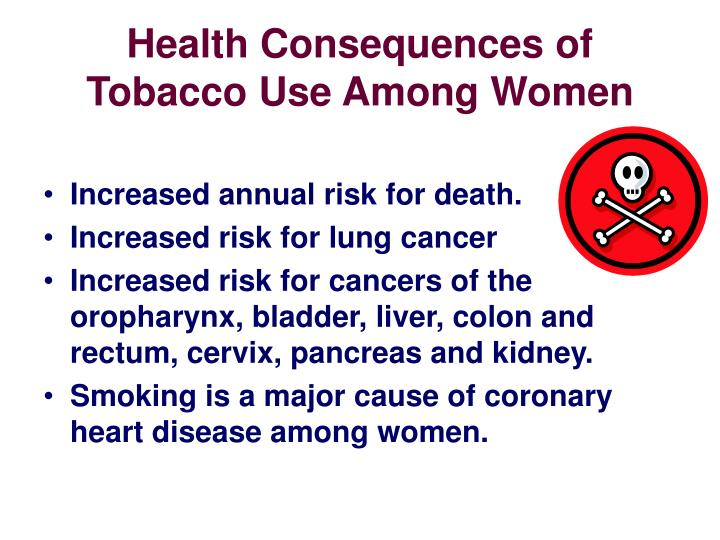 Health Consequences of Tobacco Use Among Women