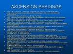 ascension readings