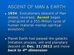 ascent of man earth