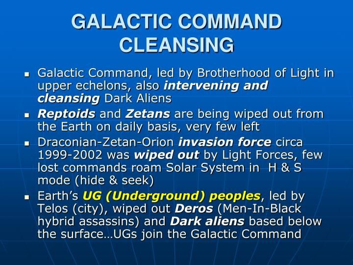 GALACTIC COMMAND CLEANSING