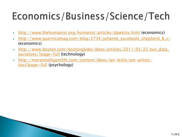 Economics/Business/Science/Tech