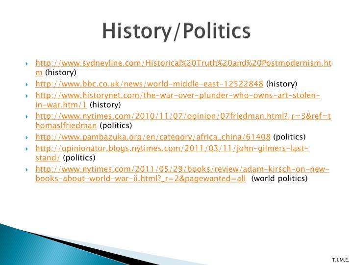 History/Politics
