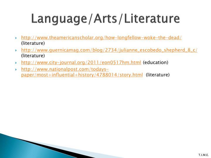 Language/Arts/Literature