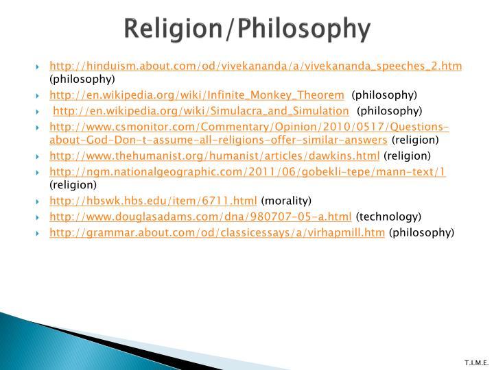Religion/Philosophy