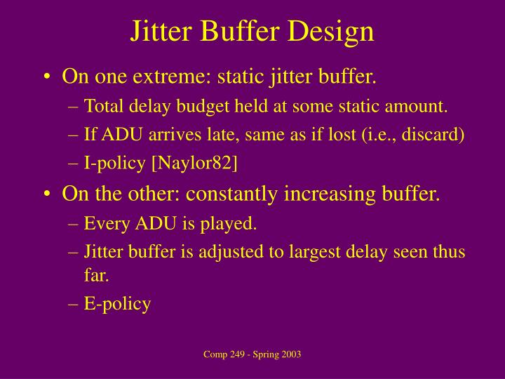 Jitter Buffer Design