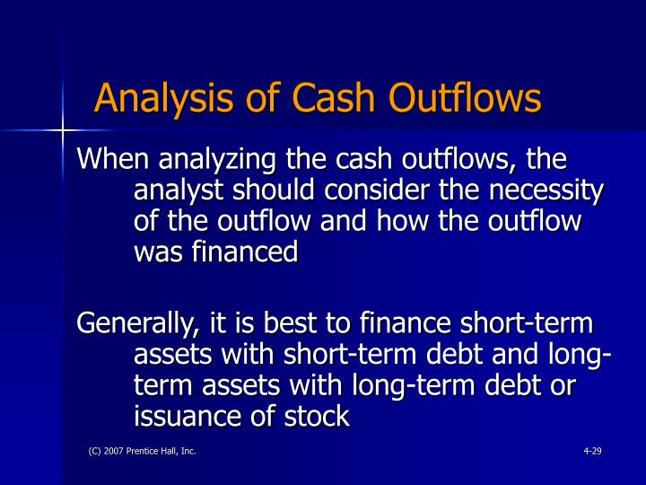 Analysis of Cash Outflows