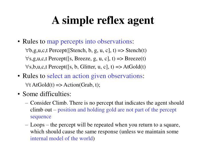 A simple reflex agent