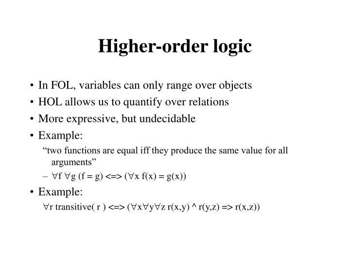 Higher-order logic