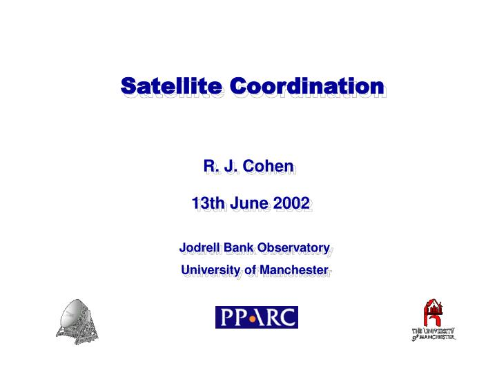 Satellite Coordination