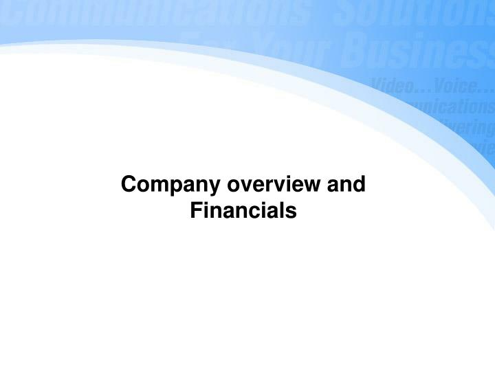 Company overview and
