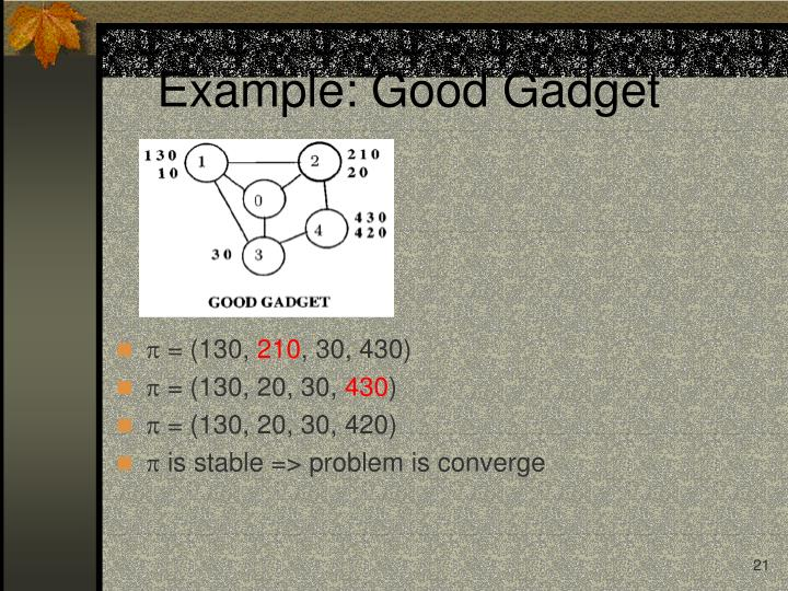 Example: Good Gadget