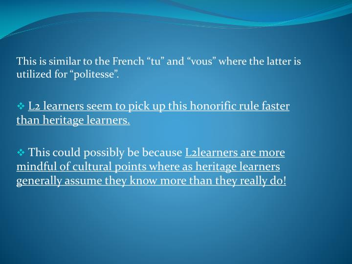 """This is similar to the French """""""