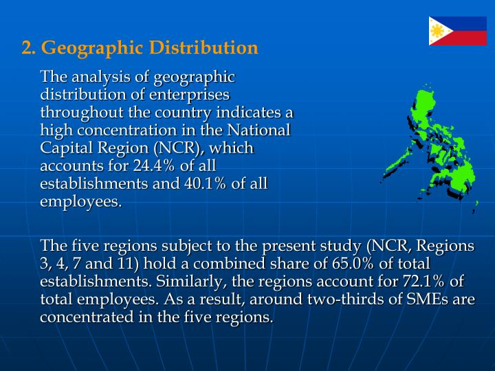 2. Geographic Distribution