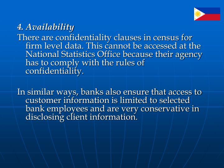 4. Availability