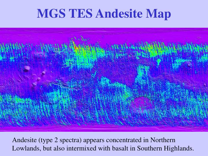 MGS TES Andesite Map