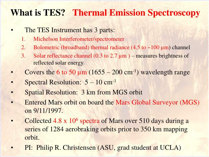 What is tes thermal emission spectroscopy