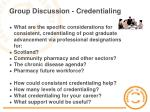 group discussion credentialing