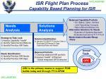 isr flight plan process capability based planning for isr