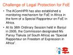 challenge of legal protection for foe2