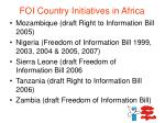 foi country initiatives in africa1