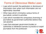 forms of obnoxious media laws1