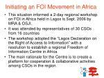 initiating an foi movement in africa