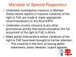 mandate of special rapporteur1