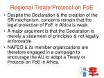regional treaty protocol on foe