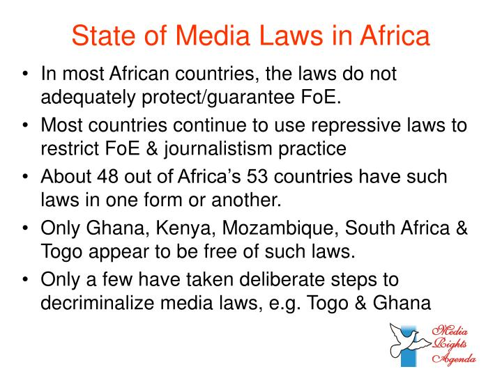 State of media laws in africa