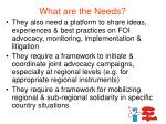what are the needs1