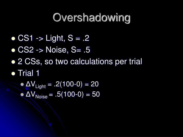 Overshadowing