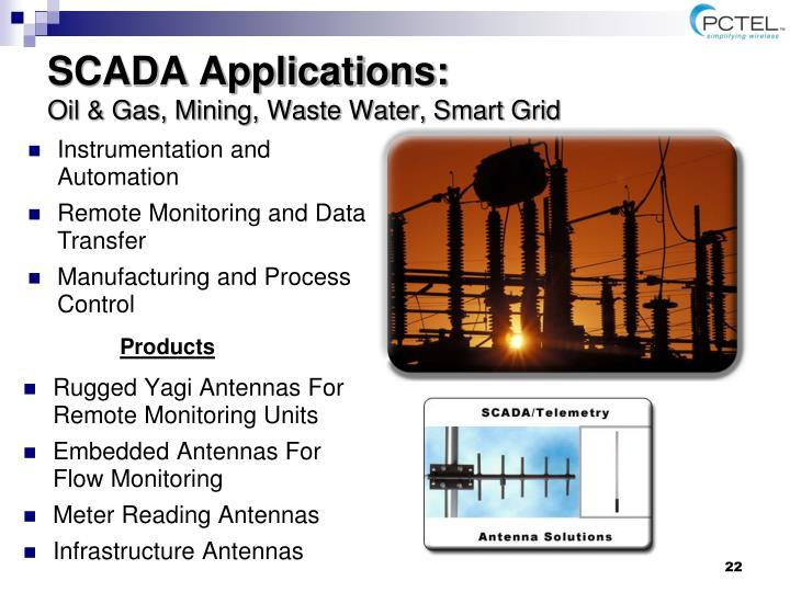 SCADA Applications: