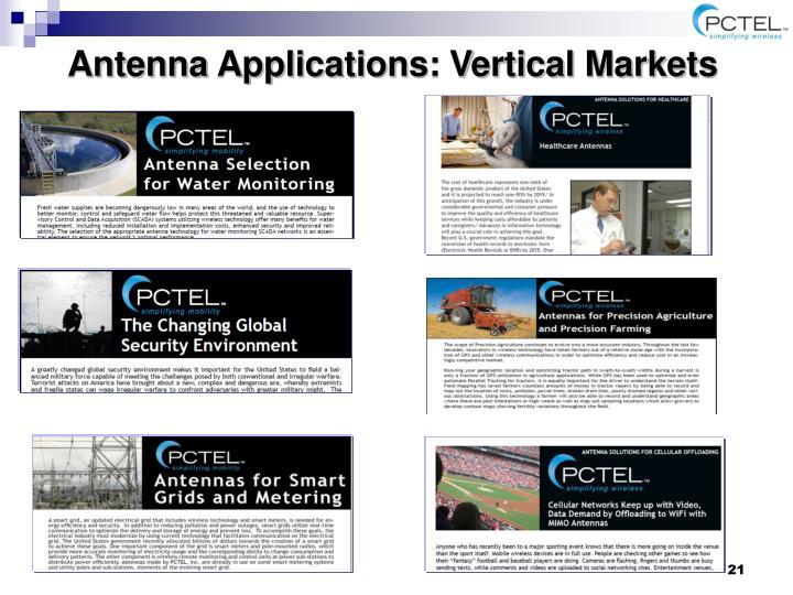 Antenna Applications: Vertical Markets