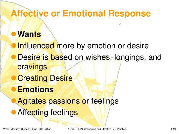 Affective or Emotional Response