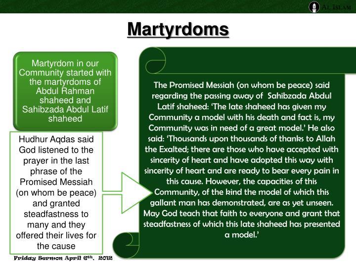 Martyrdoms