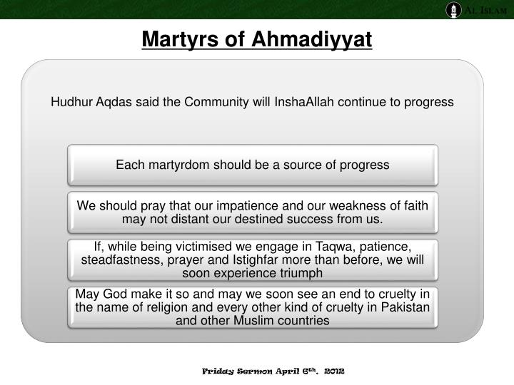 Martyrs of Ahmadiyyat