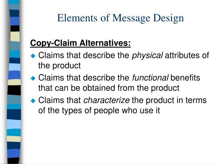 Elements of Message Design