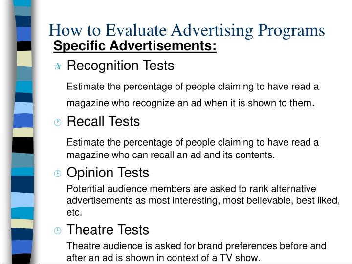 How to Evaluate Advertising Programs