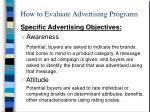 how to evaluate advertising programs1