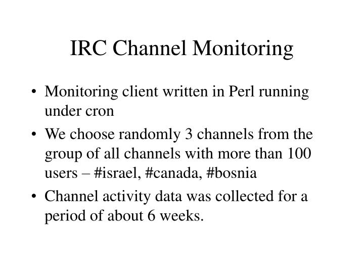 IRC Channel Monitoring