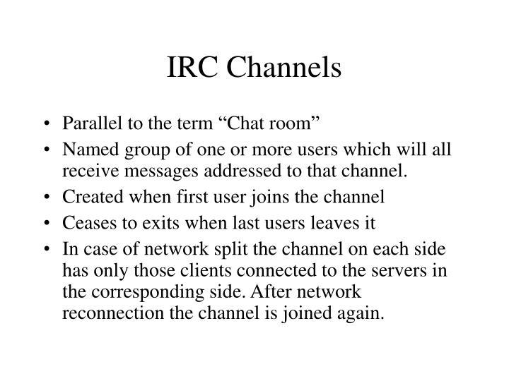 IRC Channels